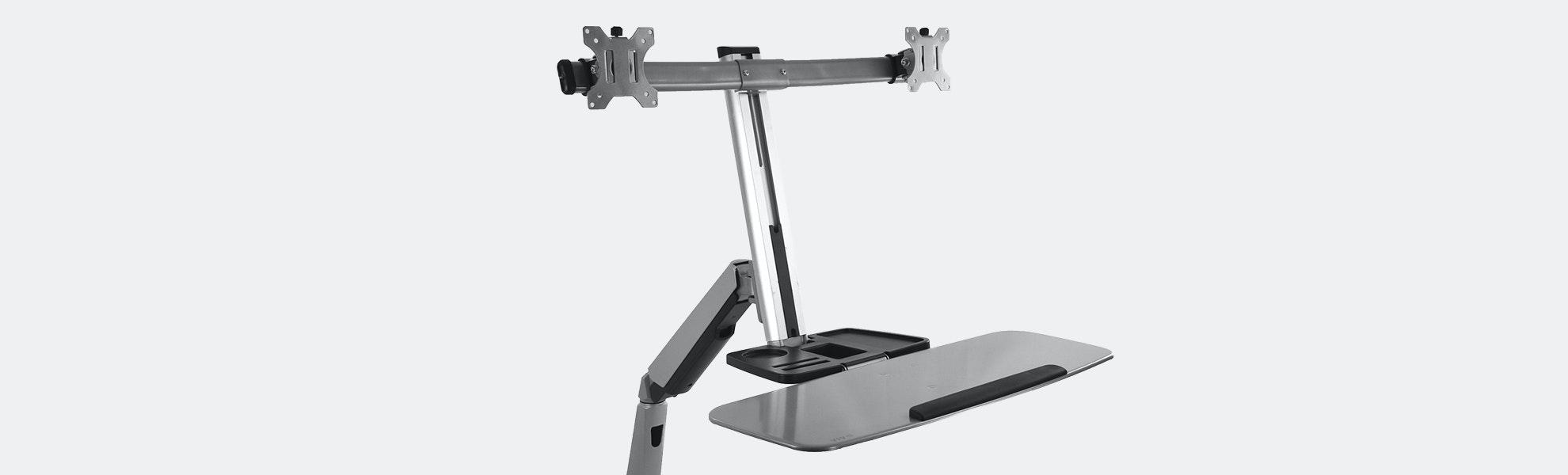 Vivo Dual Monitor & Keyboard Sit/Stand Desk Mount