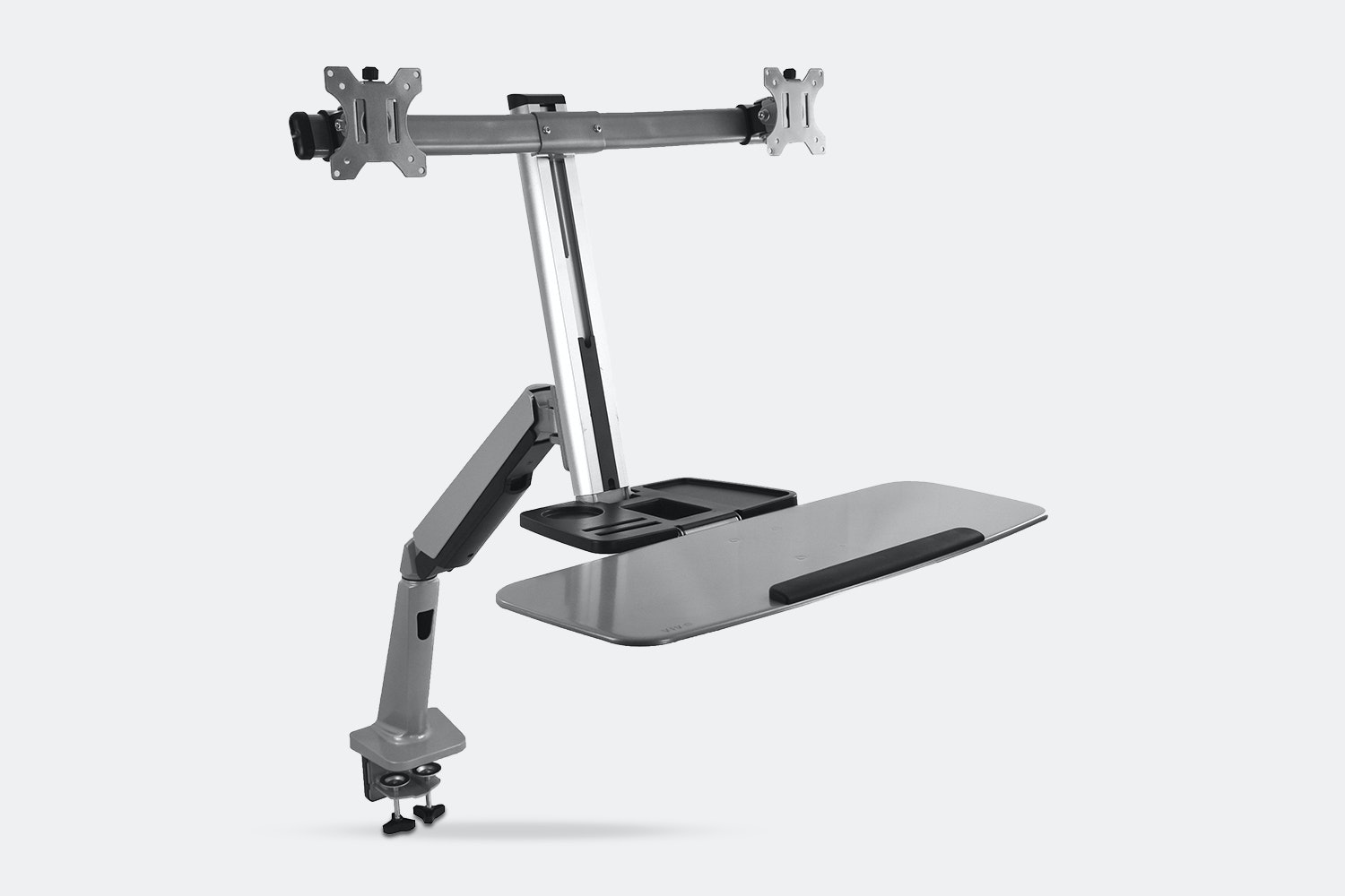 Dual Monitor/Keyboard Sit/Stand Desk Mount