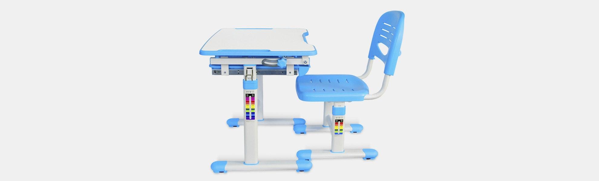 Vivo Height-Adjustable Children's Desk & Chair Sets