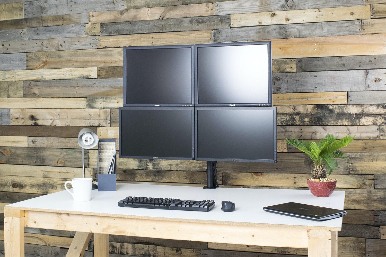 Vivo Quad LCD Heavy-Duty Desk Mount