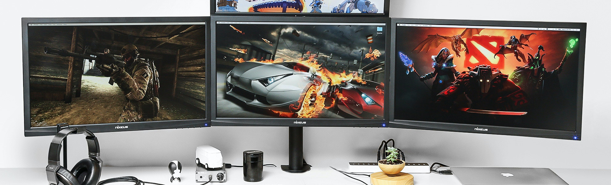 Vivo Quad LCD Heavy-Duty Desk Mount