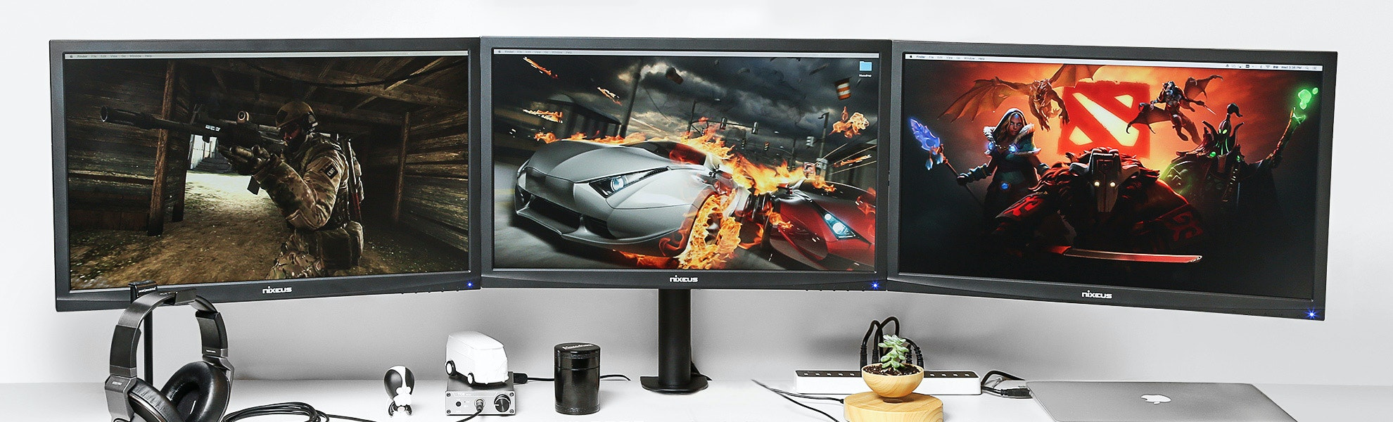 Vivo Dual|Triple|Quad LCD Heavy Duty Desk Mounts