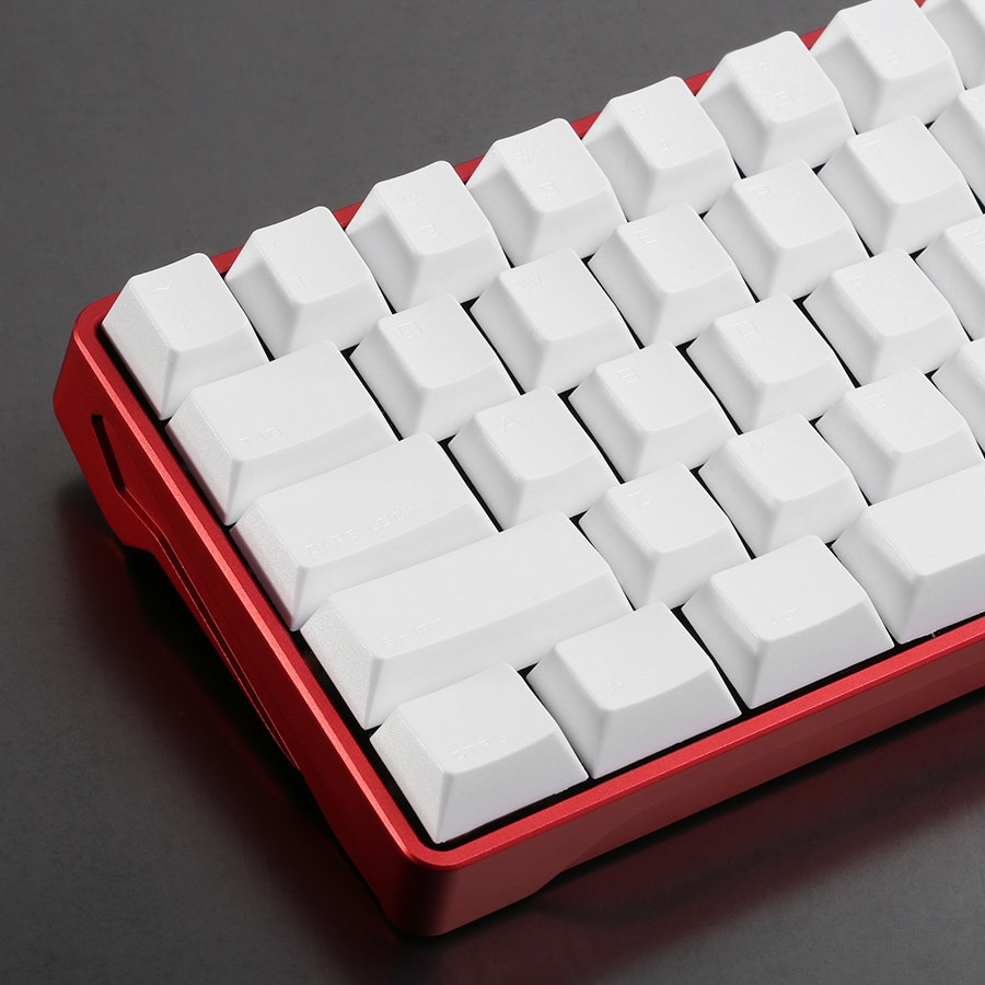 Vortex White PBT Keycap Set