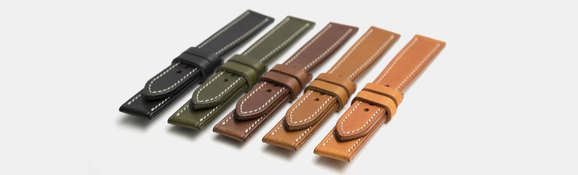 Vulture Premium Minerva Liscio Leather Watch Straps