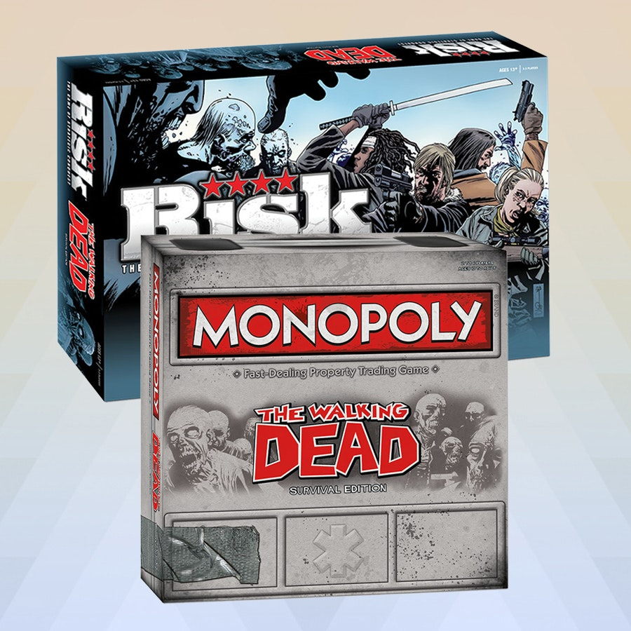 Walking Dead: Monopoly & Risk Board Game Bundle
