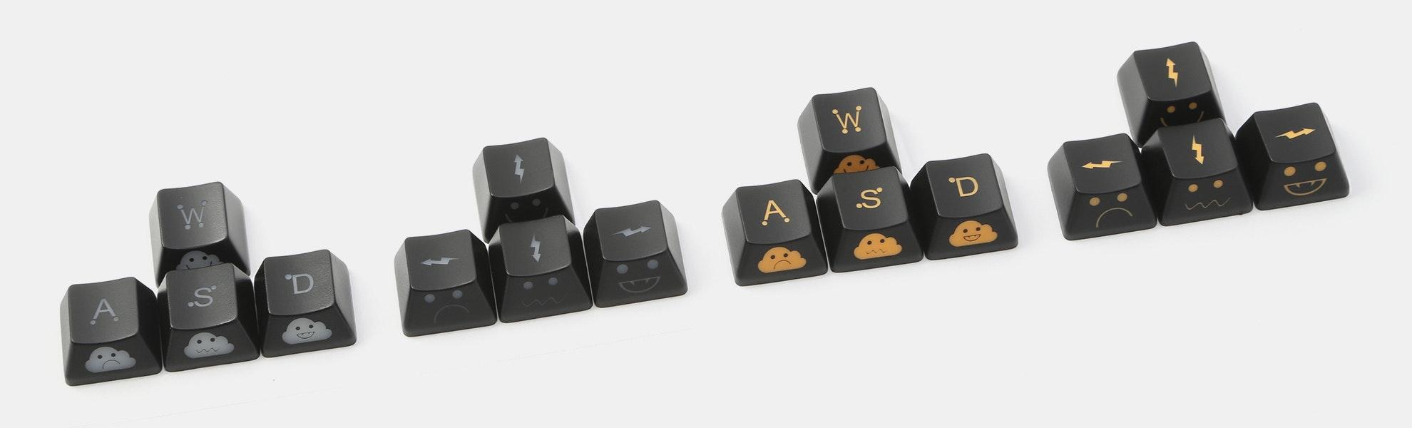 WASD + Arrow Shine-Through Novelty Keycaps