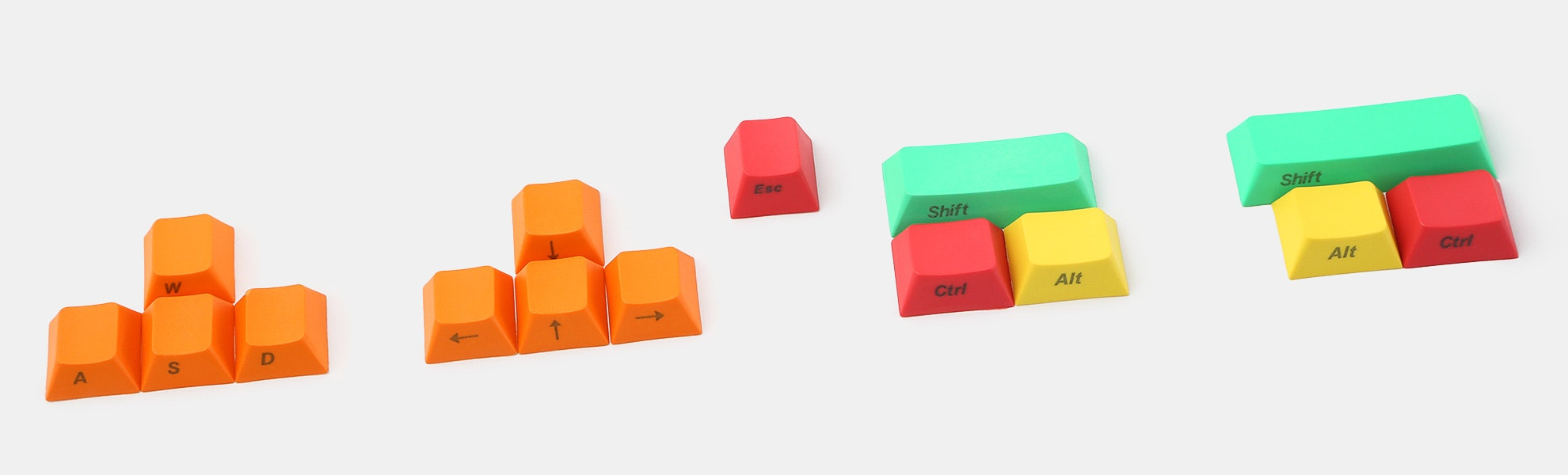 PBT Keycaps: WASD, Arrows & Modifiers