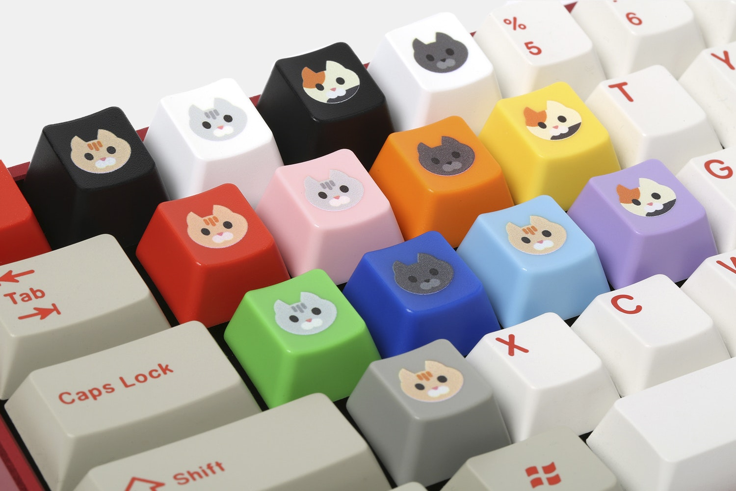 WASD Keyboards Cherry Cat Novelty Keycaps (4-Pack)