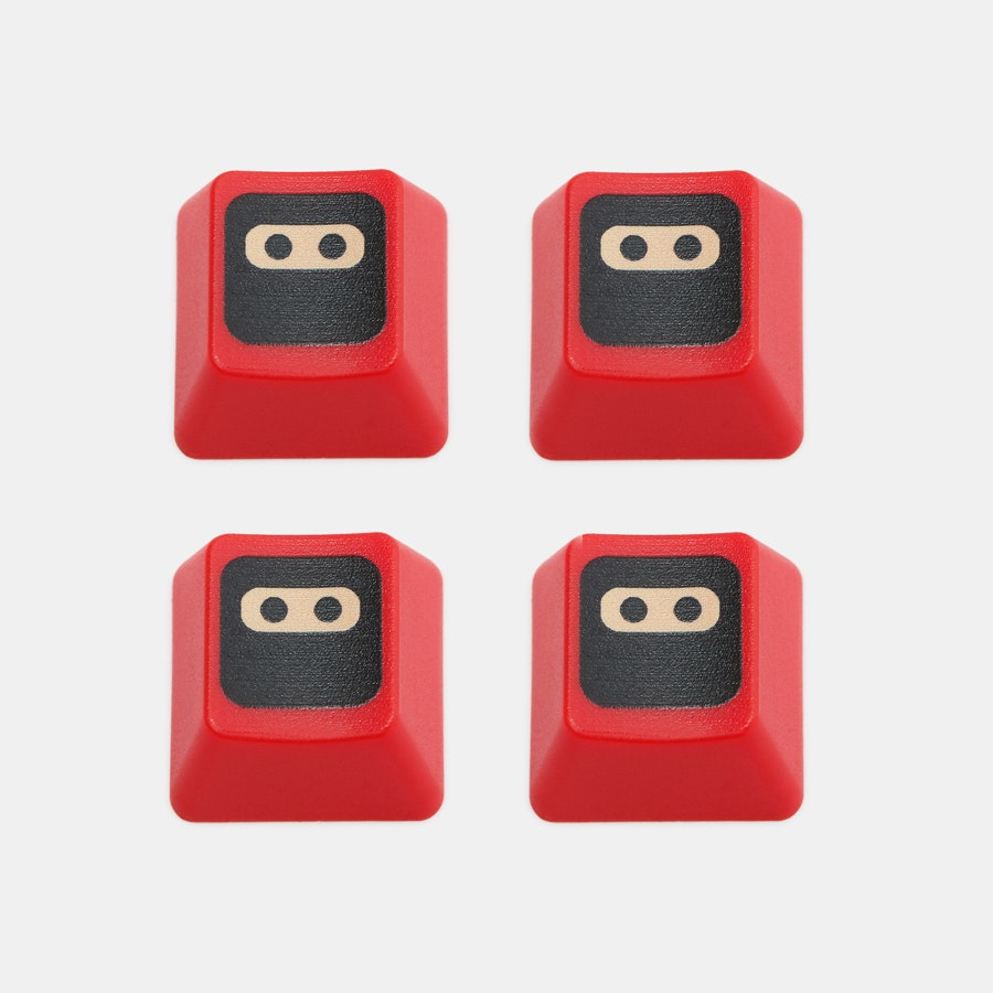 WASD Keyboard Ninja Novelty Keycaps (4-Pack)
