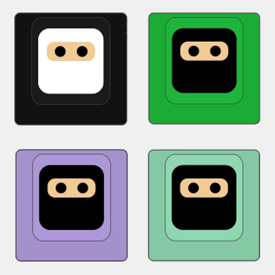Black / Green / Lavender / Mint