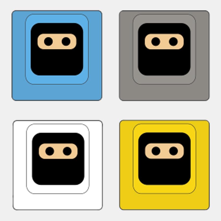 Sky Blue / Slate Gray / White / Yellow