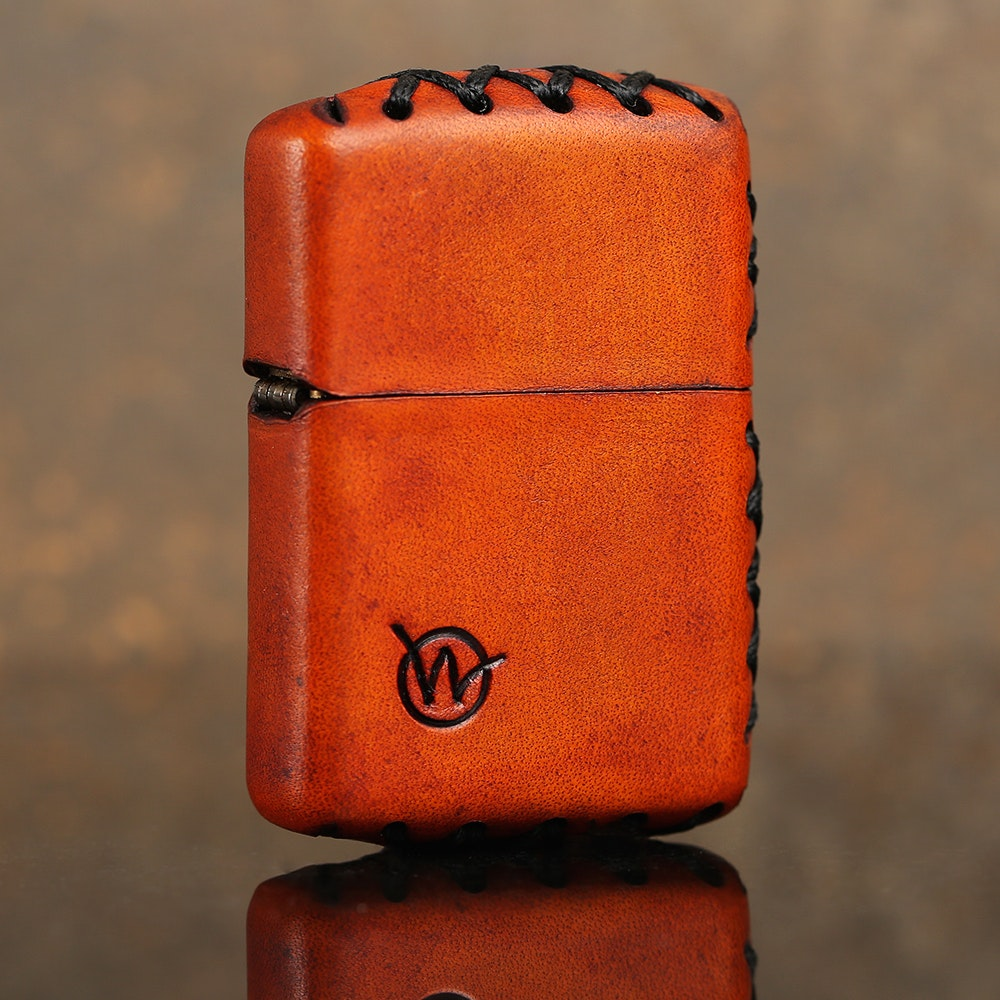 Wasteland Oddities Leather-Wrapped Zippo Lighters