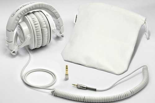 ATH-M50 with Coiled Cable (White)