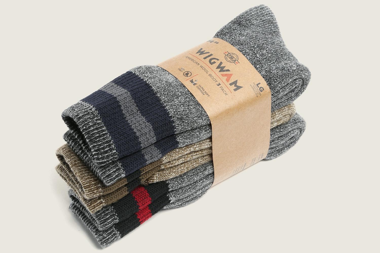 Wigwam American Wool Boot Socks (3-Pack)