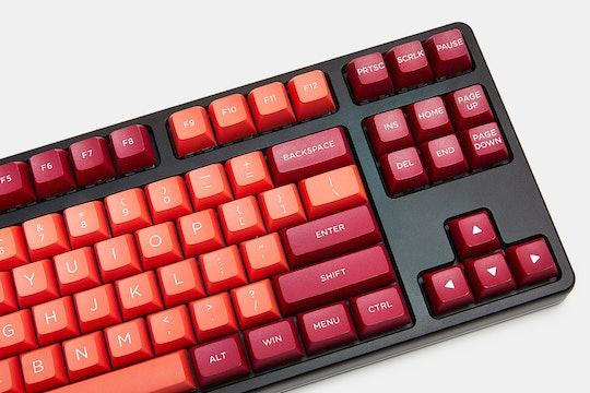 WinMix Lava Orange Doubleshot PBT Keycap Set