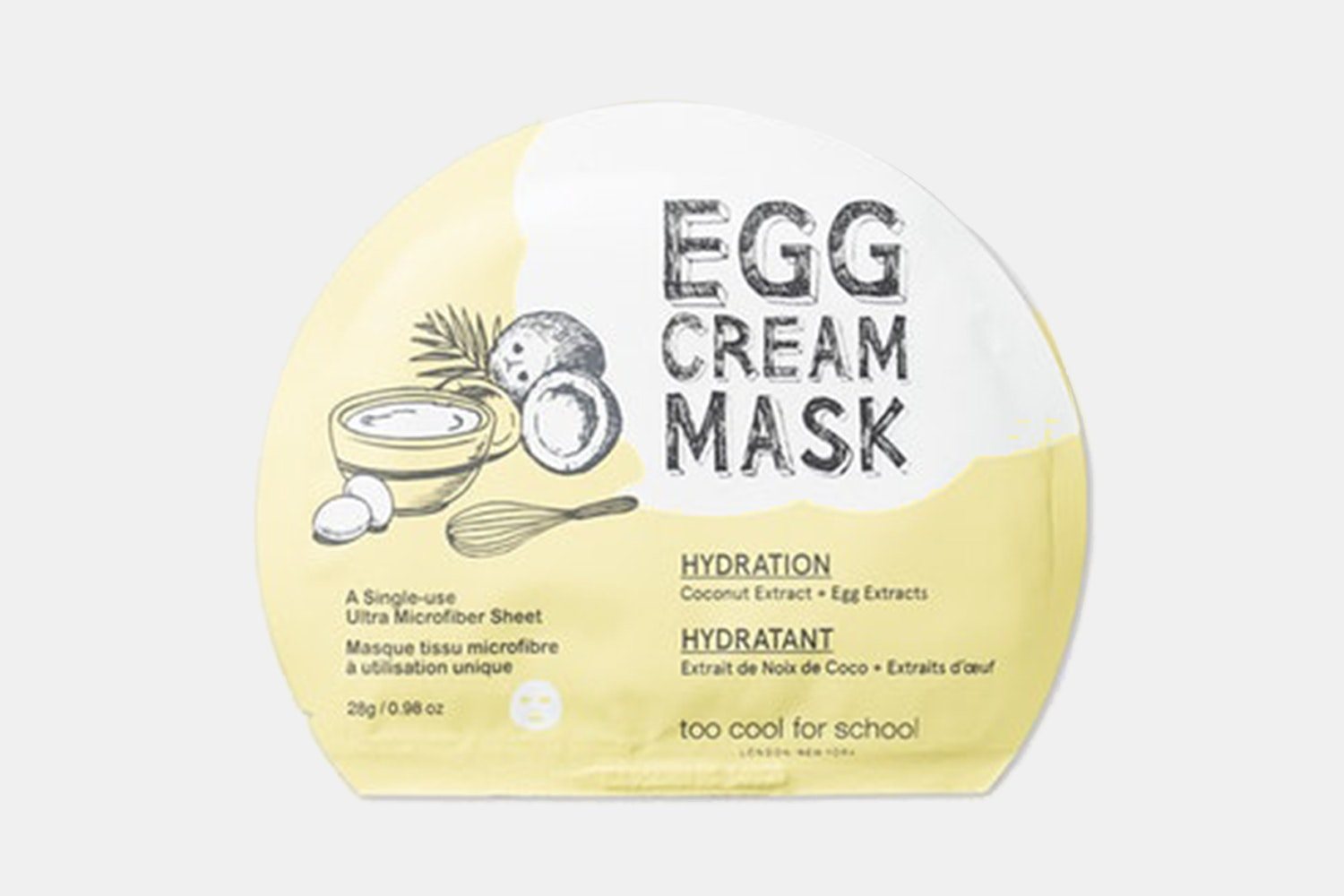 Too Cool for School Hydration Egg Cream Mask