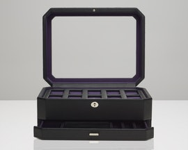 10-Piece Black/Purple With Drawer (+$25)