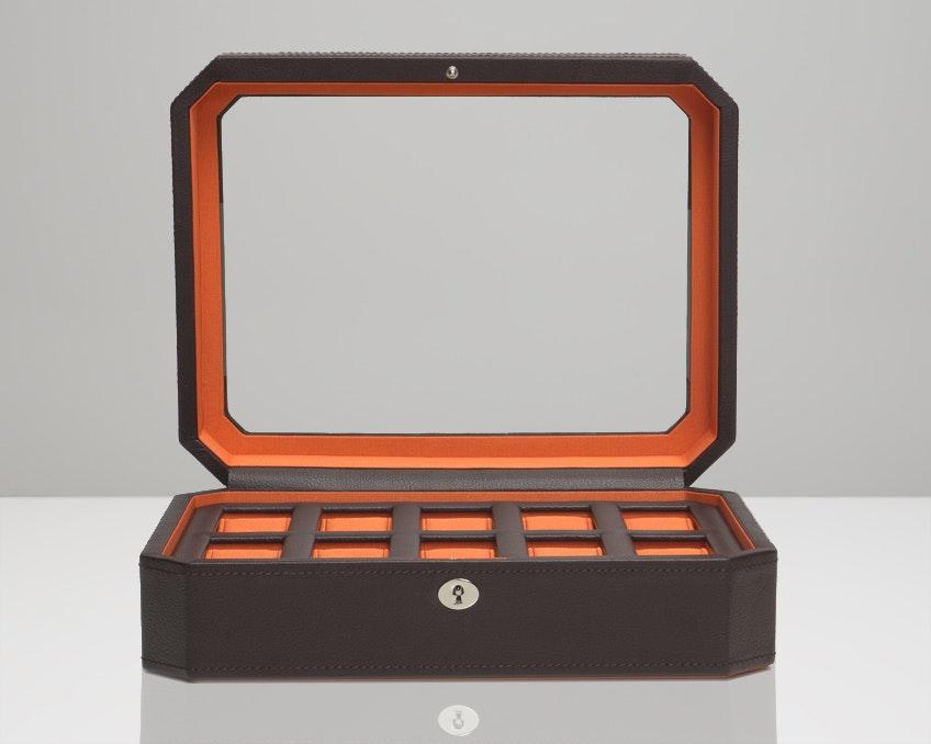 10-Piece Brown/Orange