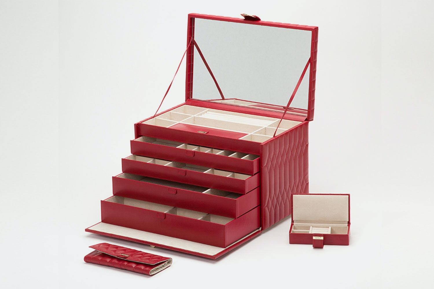 Extra Large Jewelry Case   Red  (+ $200)
