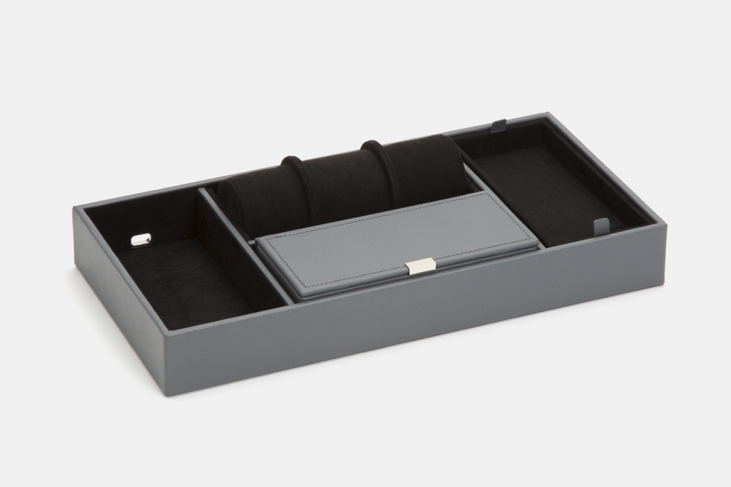 Howard Valet Tray With Roll - Gray