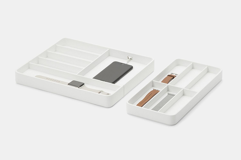 Watch Valet w/ Apple Watch Strap Tray - White (- $15)