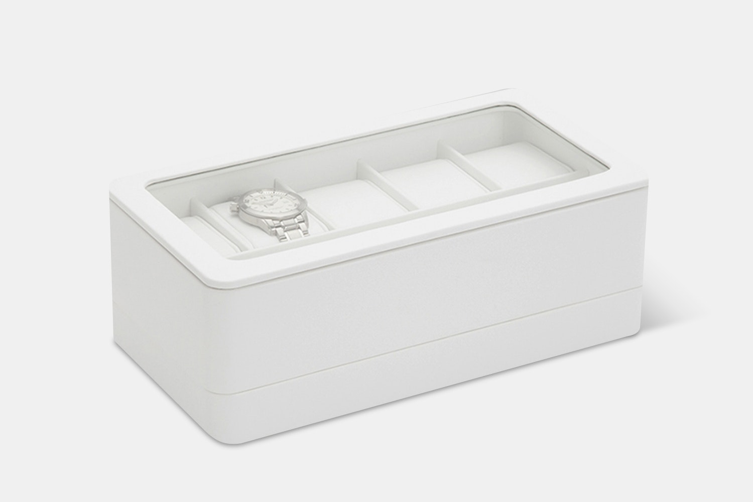 6-Piece Box w/ Apple Watch Strap Tray | White