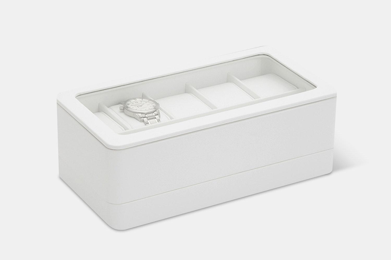 6-Piece Box w/ Apple Watch Strap Tray - White