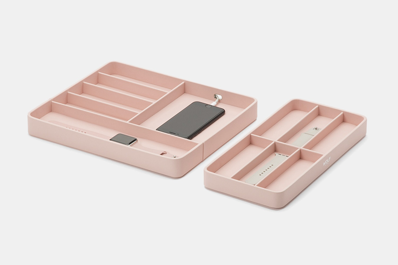 Watch Valet w/ Apple Watch Strap Tray - Rose Quartz (- $15)