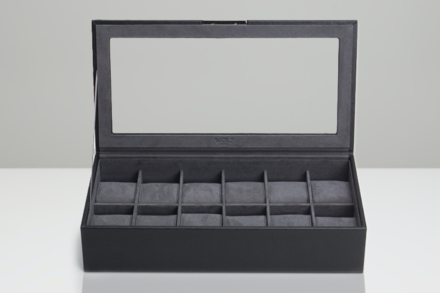 12-Piece Tray with Lid, Black (+ $5)