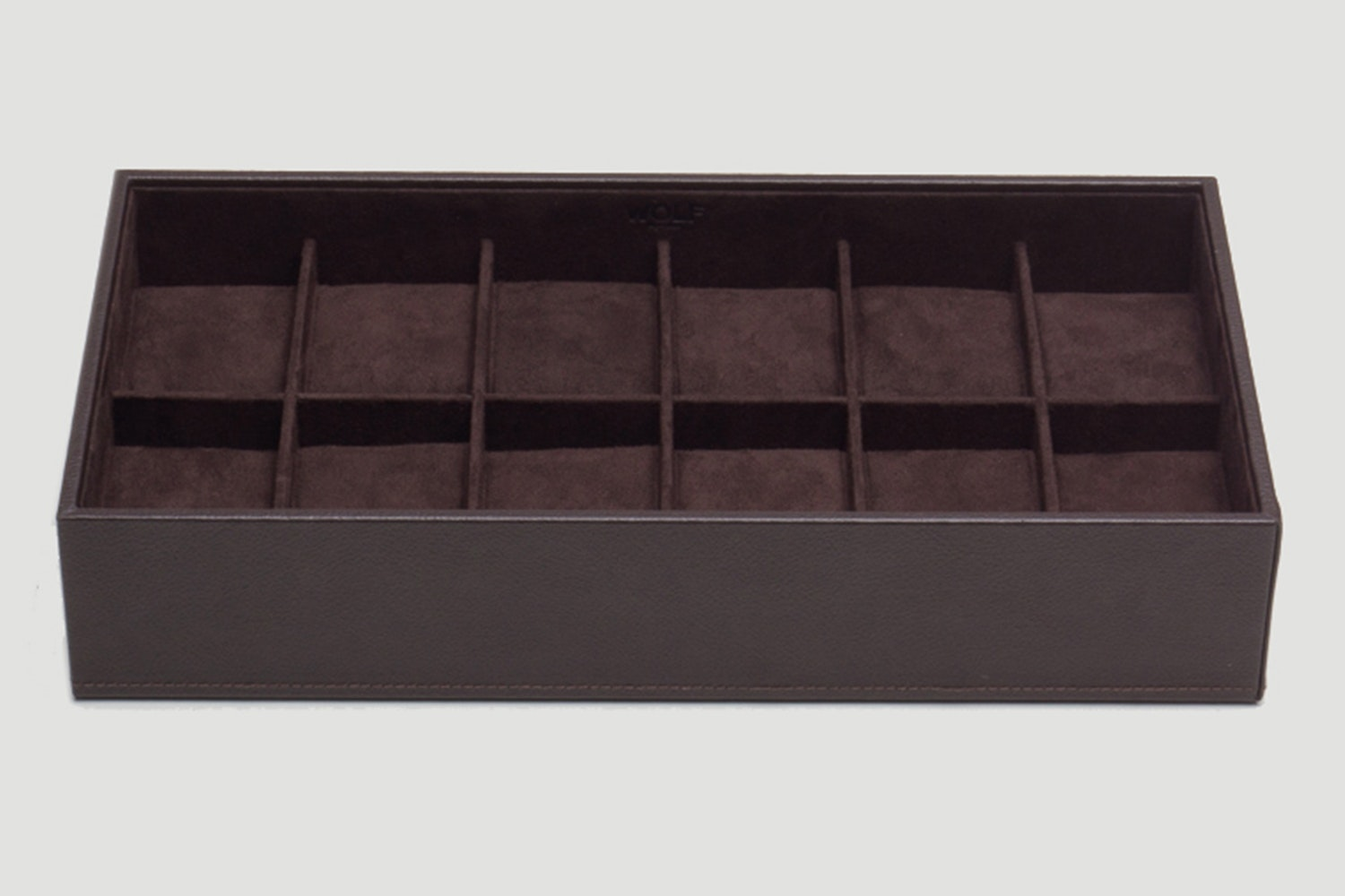 12-Piece Tray, Brown
