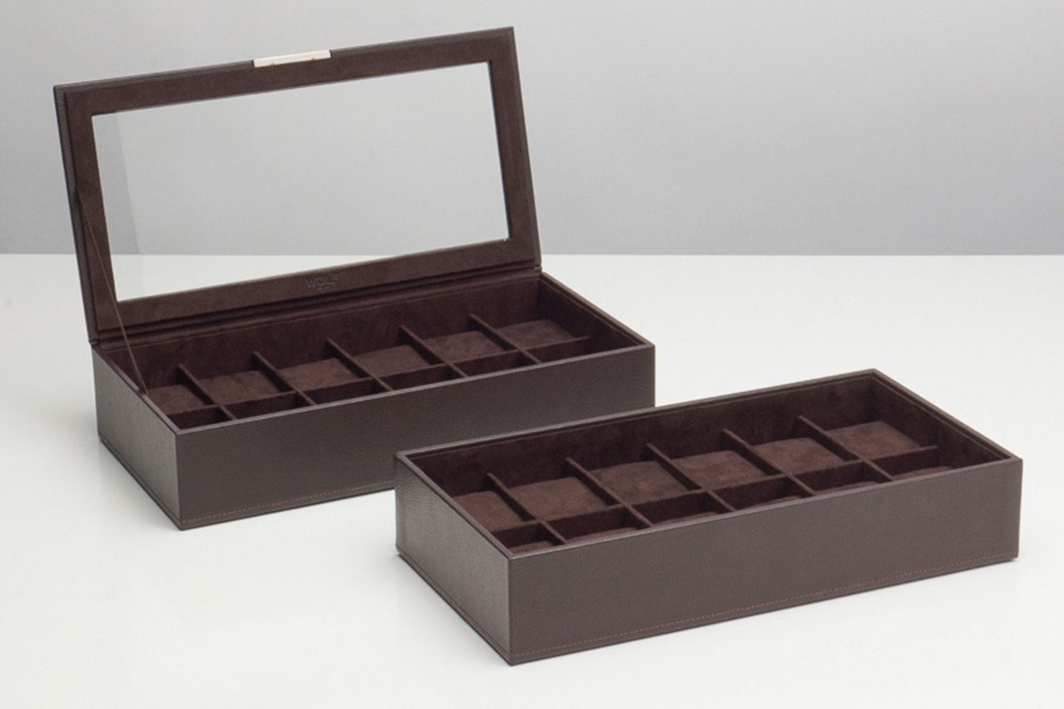 Set of two 12-piece trays - Brown (+ $25)