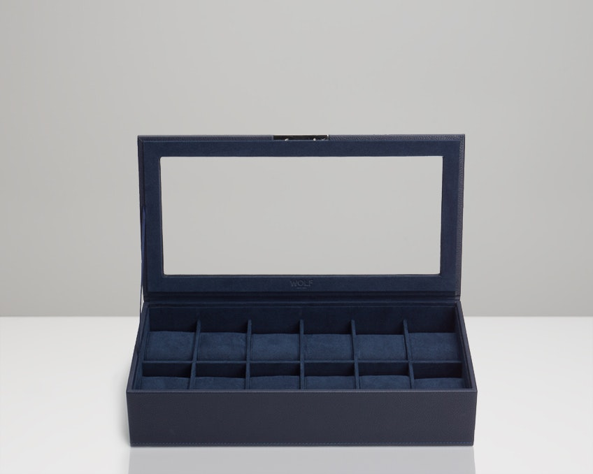 12-Piece Tray with Lid, Navy