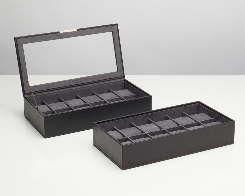 Set of two 12-piece trays (Black)
