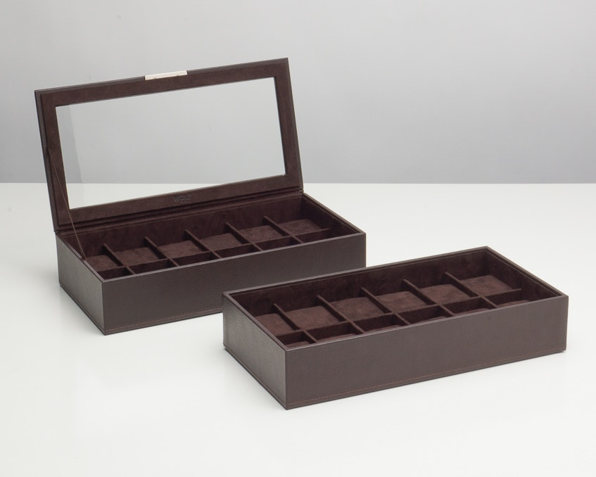 Set of two 12-piece trays (Brown)