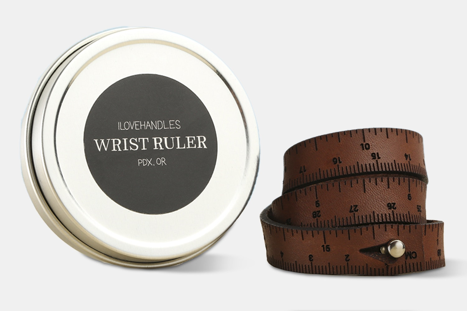 Wrist Ruler Leather Bracelet