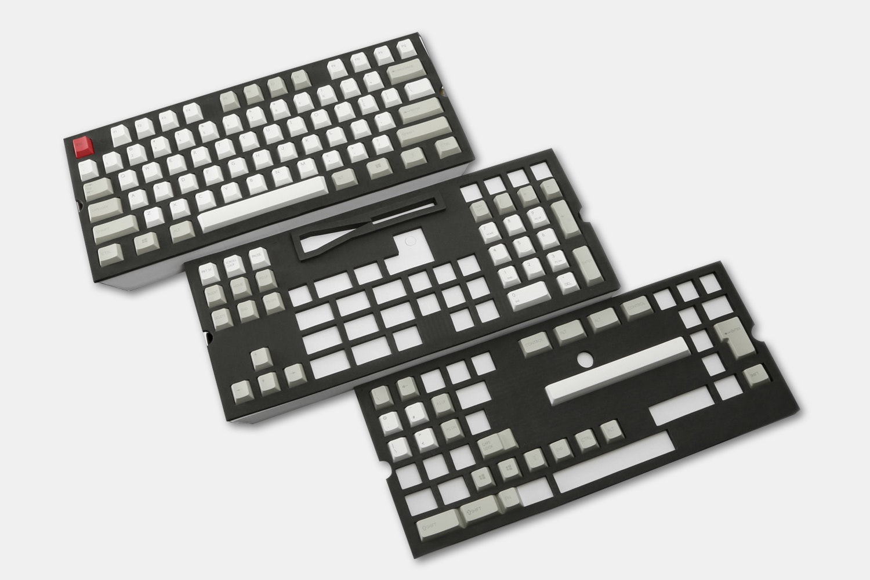 129-Key Top Printed PBTCherry Keycap Set - Gray/White/Red (+ $25)