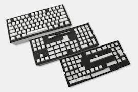 129-Key Top Printed PBTCherry Keycap Set - White (+ $10)