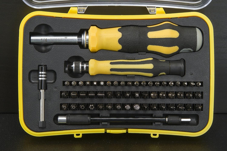 57 Piece Yellow Screwdriver Set