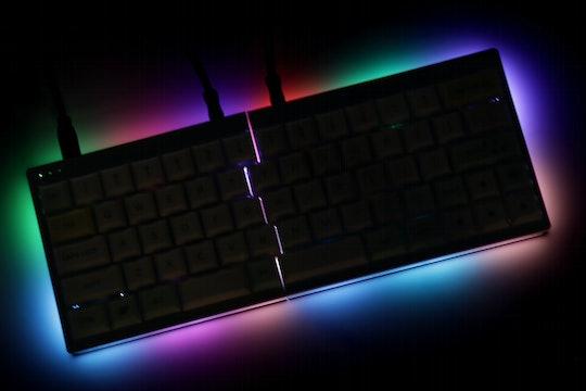 YMDK Split 64 Hot-Swappable Mechanical Keyboard Kit