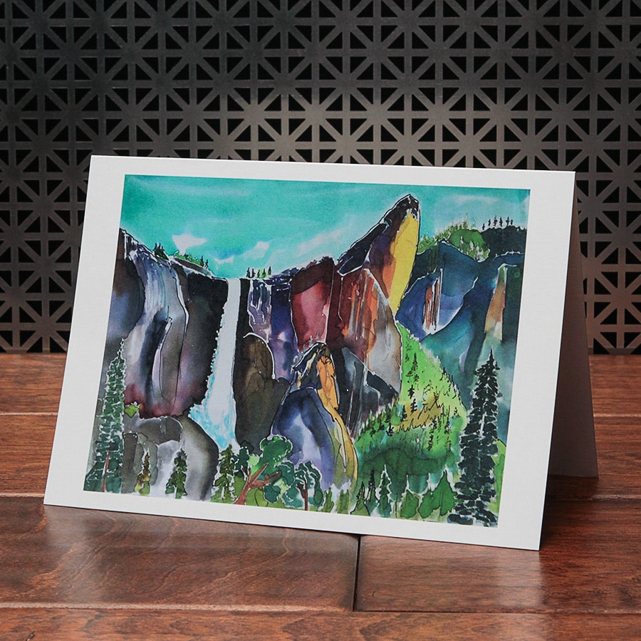 Yosemite Original Art Greeting Cards