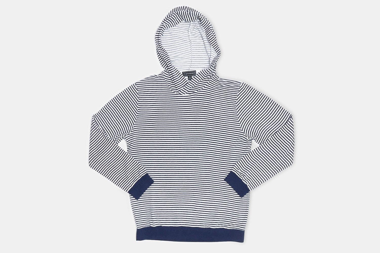 White/Navy Stripes