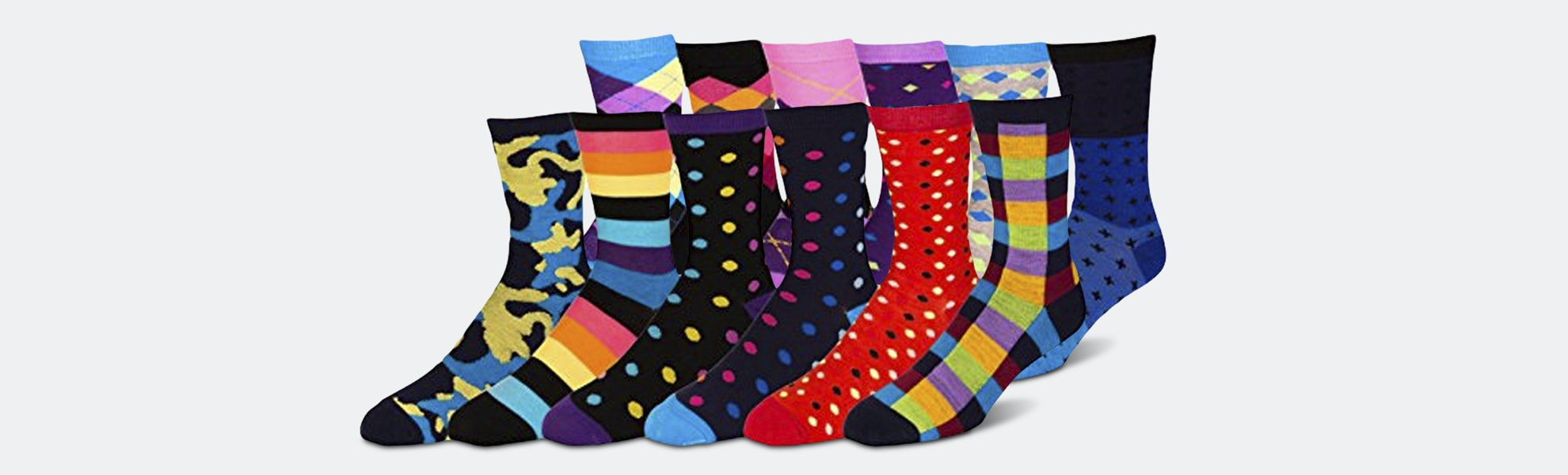 ZEKE Assorted Funky Dress Socks (12-Pack)