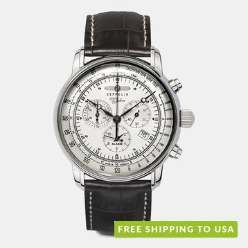 Zeppelin Watches Graf Swiss Quartz Chronograph