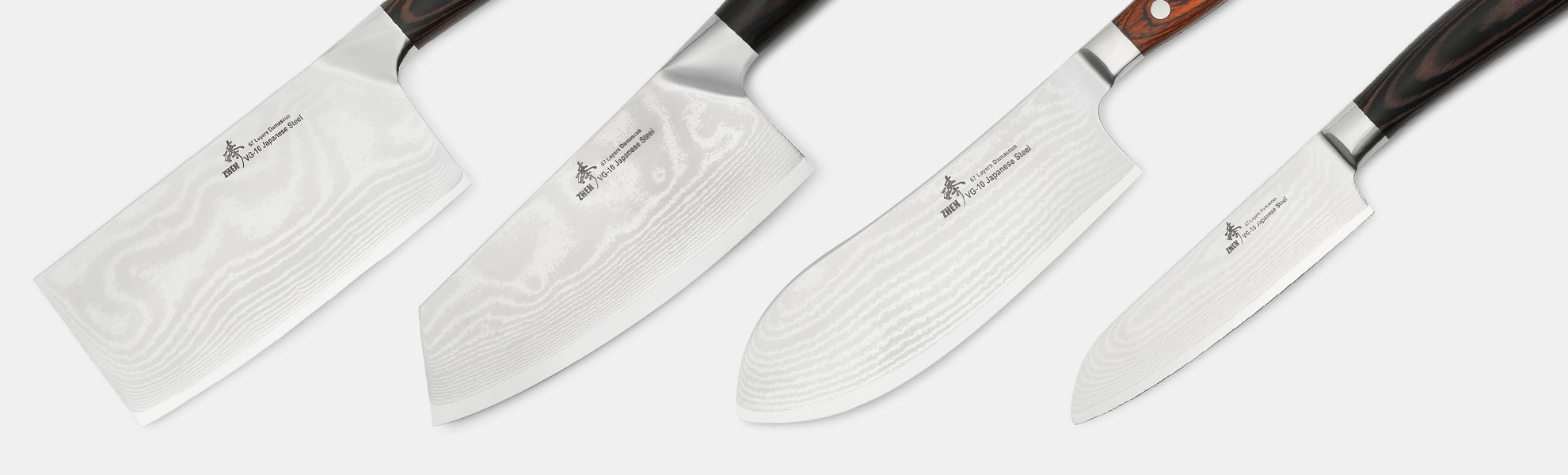 Zhen VG-10 Damascus Kitchen Knives