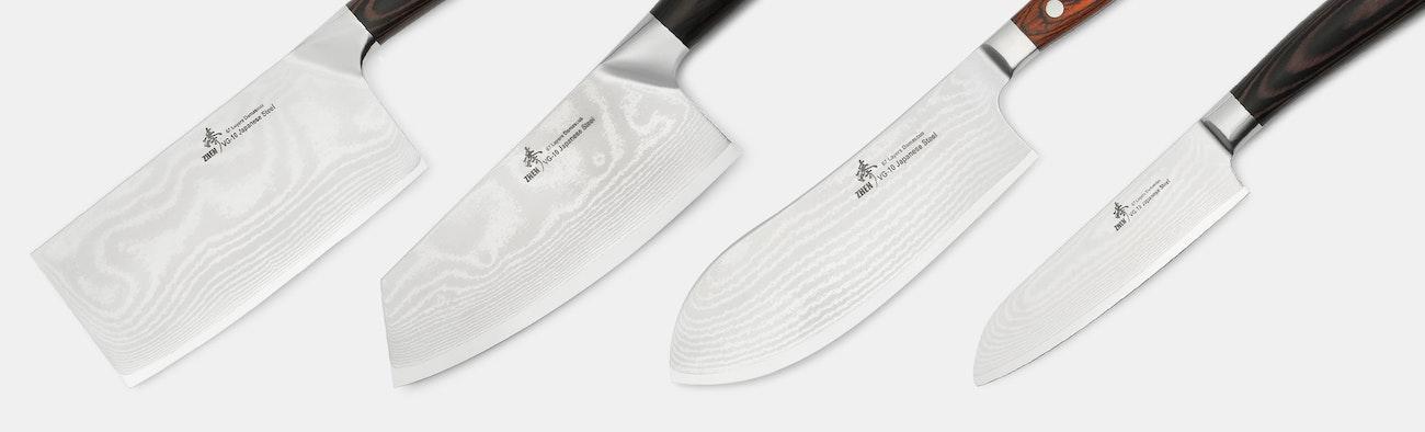 zhen vg 10 damascus kitchen knives - Kitchen Knives