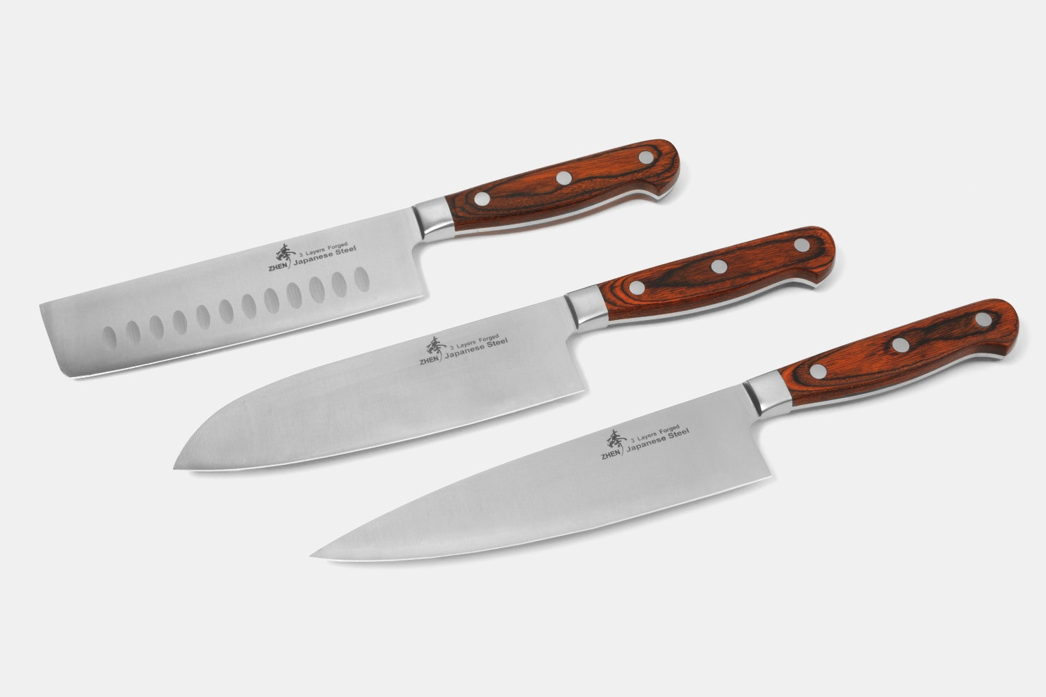Zhen VG-10 3-Layer Forged Kitchen Knives