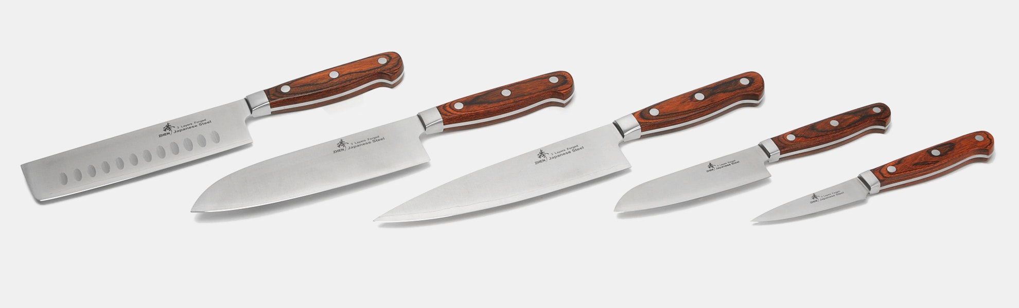 Zhen VG-10 3-Layer Forged Kitchen Knives