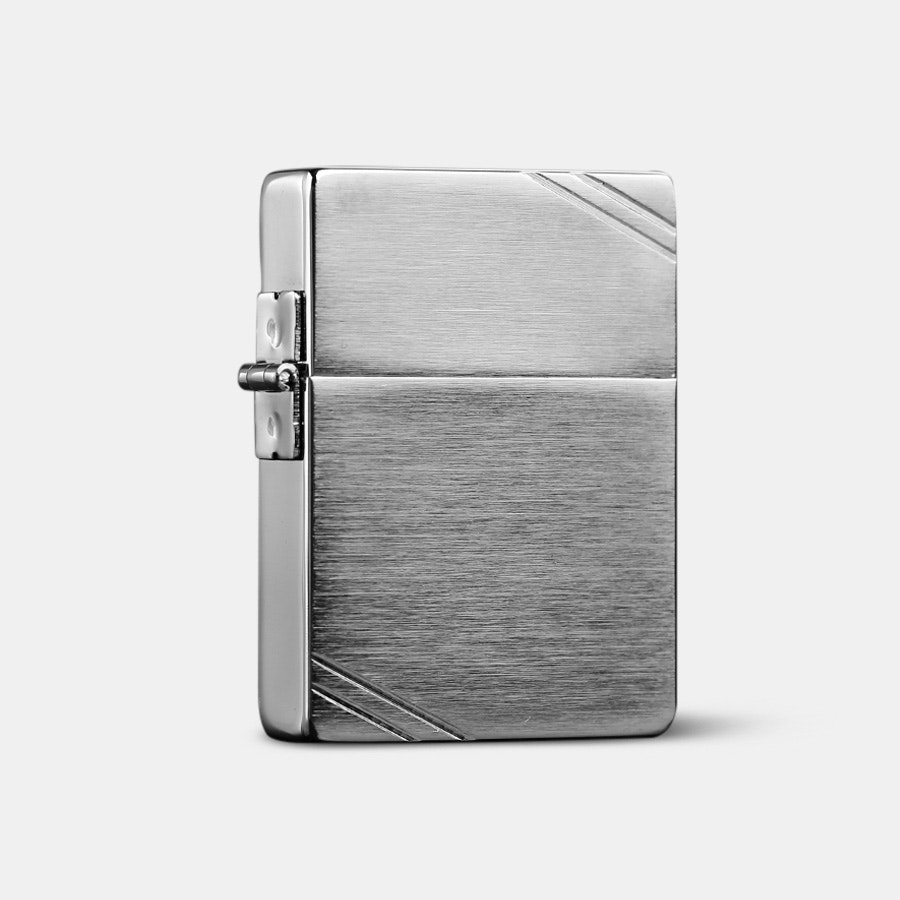 Zippo Lighters: 1935 Replica Brushed Chrome