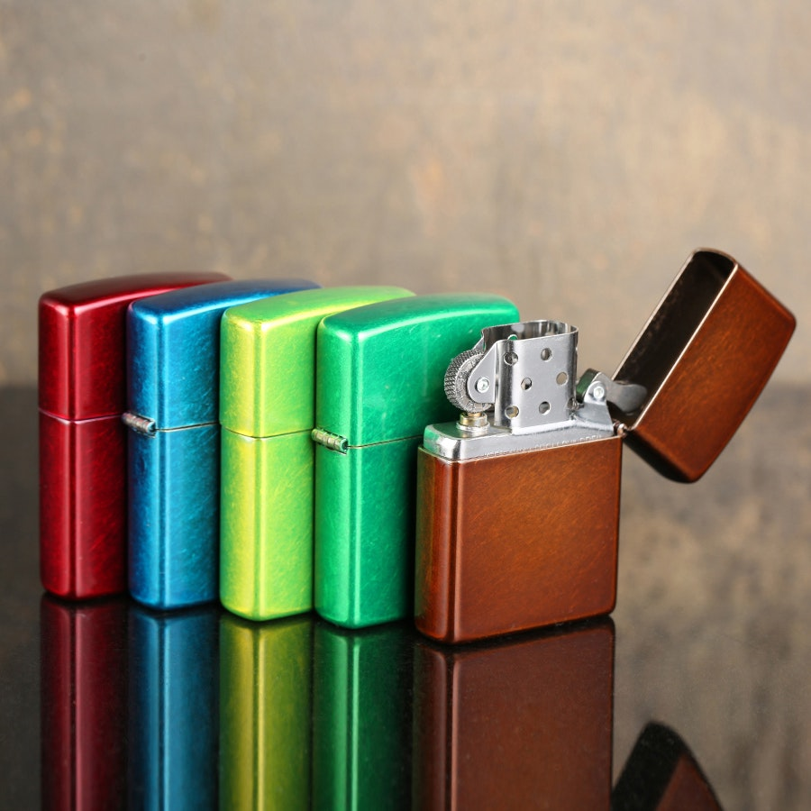 Zippo Lighters: Antique Finish Gloss