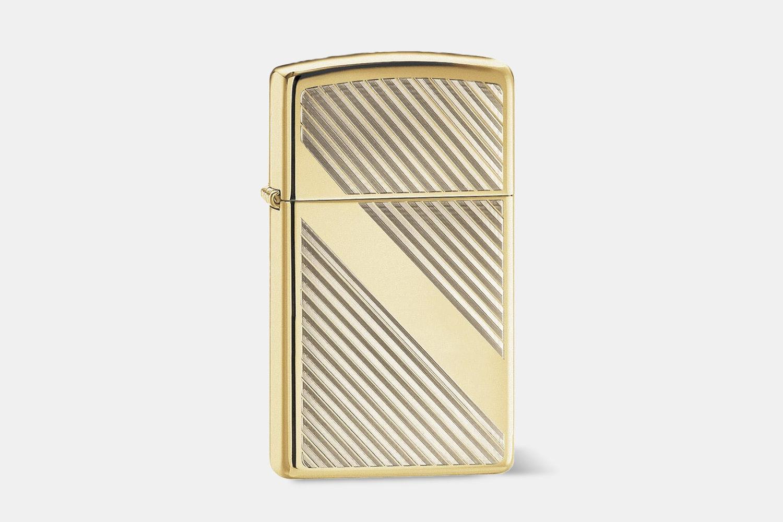 Brass Diagonal Pinstripes (+$4)